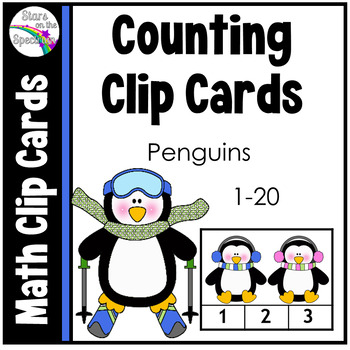 Winter Counting Clip Cards Counting Penguins