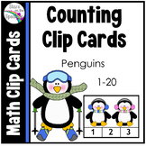 Winter Counting Clip Cards Penguins