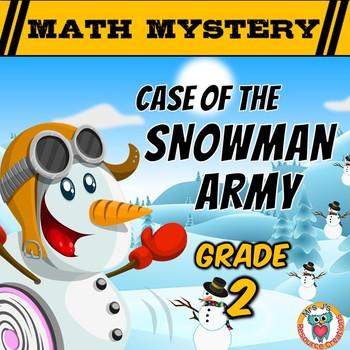 2nd Grade Winter Math Mystery Activity : Snowman Army