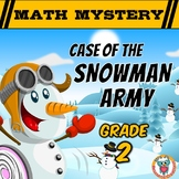 2nd Grade Winter Math Mystery Activity : Snowman Army