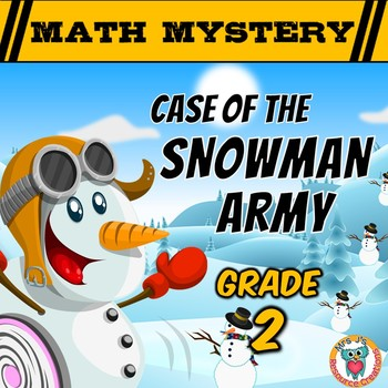 Winter Math Mystery Activity : Snowman Army