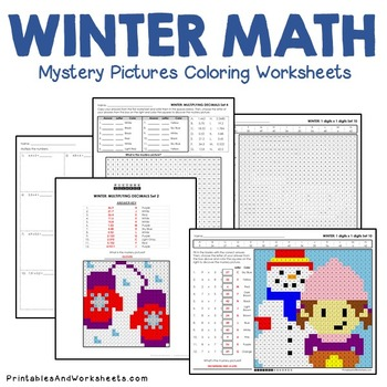 Winter Math Activities - Includes Winter Math Worksheets for Winter Math Centers