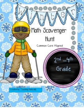 Winter Math Scavenger Hunt (2nd-4th grade)