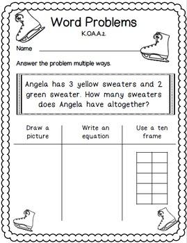 Winter Math for Kindergarten