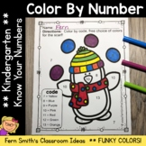 Color By Number Winter Funky Penguins Know Your Numbers Printables