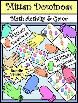 Winter Math Activities: Mitten Dominoes Winter Math Game A