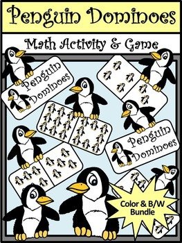 Winter Math Activities: Penguin Dominoes Winter Math Game Activity Packet