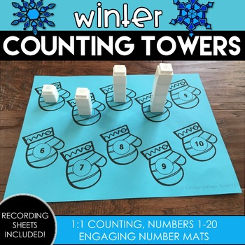 Winter Counting Towers using 1:1 Correspondence by Kindergarten Smarts