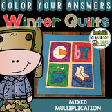 Color By Number Winter Math Multiplication Classroom Quilts Dollar Deal