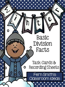 Winter Division Task Cards Bundle