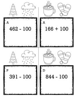 Winter Math 2nd Grade Scavenger Hunt Game Bundle