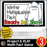 Winter Math 3rd Grade Multiplication Facts | Paperless Math Activity Review Game