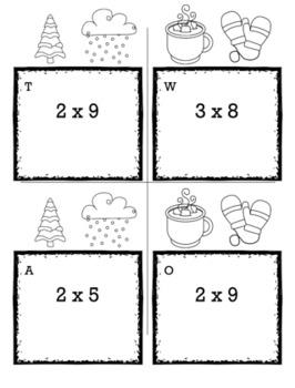 Winter Math 3rd Grade Scavenger Hunt Game Bundle
