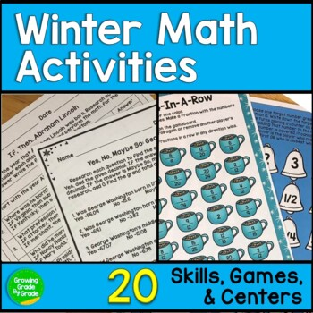 Winter Math Activities 4th and 5th