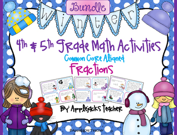 Winter Math Activities - 4th and 5th Grade - Common Core Aligned