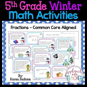 Winter Math Activities - 5th Grade - Common Core Aligned