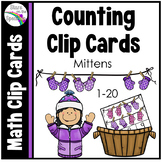 Winter Math Activities Counting Clip Cards Mittens
