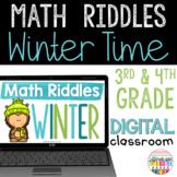 Winter Math Activities Distance Learning Google Classroom
