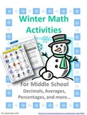 Winter Math Activities For Middle School