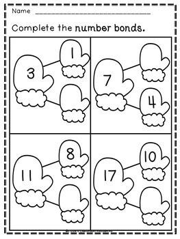 Winter Math Activities (Grades K-1)