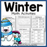 Winter Math Activities - No Prep - Just Print