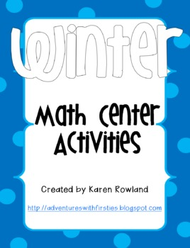 Winter Math Activities - Roll and Color, Graphing, and 3 digit addition!