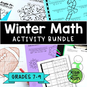Winter Math Activities for 7th, 8th, 9th Grade