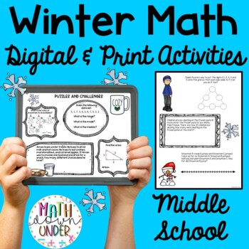 Winter Math Activities for Middle School- No Prep!
