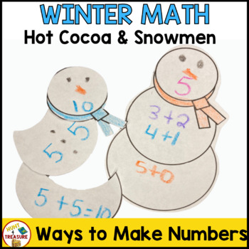 Winter Math Activities with Hot Cocoa and Snowmen for Primary Grades