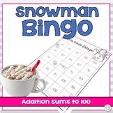Winter Double Digit Addition Bingo