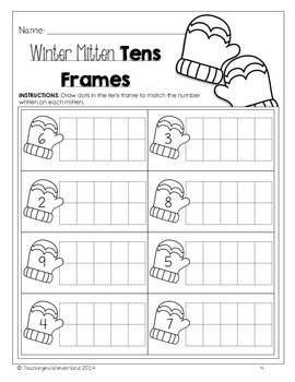 {Kindergarten} Winter Math Activity Packet