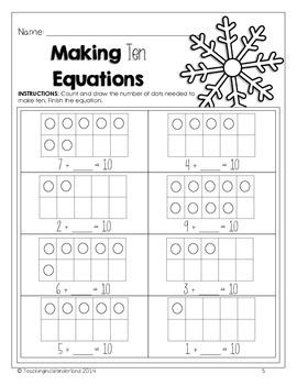 {Kindergarten} Winter Math Activity Packet