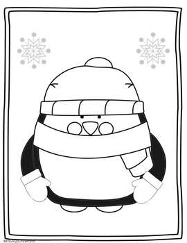 Winter Math Activity Penguin Glyph