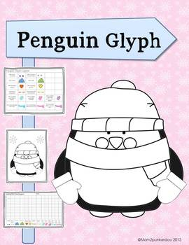 Winter Math Activity Penguin Glyph