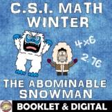 Winter Math Activity: The Abominable Snowman! A Fun CSI Wi
