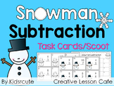 Subtraction Center- Winter Edition Scoot or Task Cards