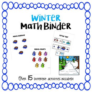 Winter Math Binder