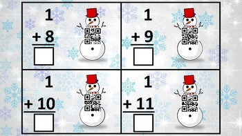 Winter Addition QR Code Flashcards