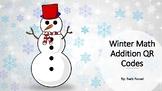 Winter Addition QR Code Flashcards