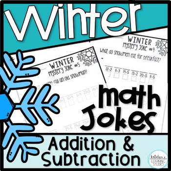Winter Math Addition and Subtraction Worksheets