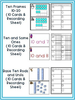 Winter Math Around the Room Bundle