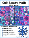 Winter Math Art - Quilt Square
