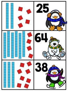 Winter Math Bins- 21 Common Core Aligned Math Centers