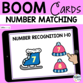 Winter Math Boom Cards Number Recognition 1 to 10