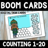 Winter Math Boom Cards -  Distance Learning - Counting Sno