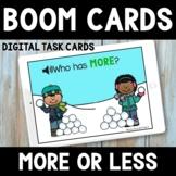 Winter Math Boom Cards -  More or Less Snowballs - Compari