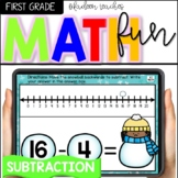 Winter Math Boom Cards-Subtraction on a Number Line