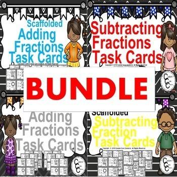 Winter Math Bundle Adding/Subtracting Fractions