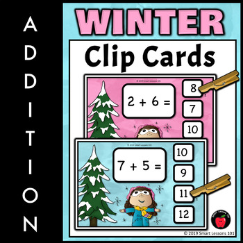 Winter Math Bundle: Winter Math Game and Winter Math Activities Addition to 10