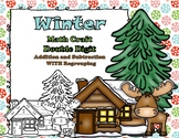 Winter Math CRAFT Double Digit Addition and Subtraction WI